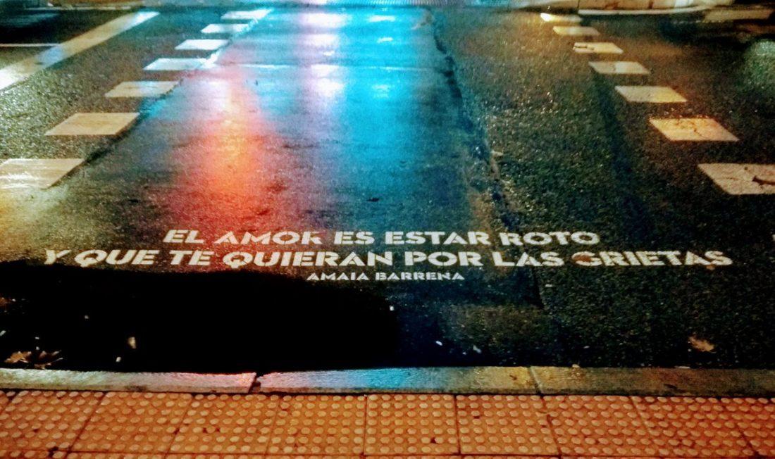 Amaia Barrena en una calle de Madrid