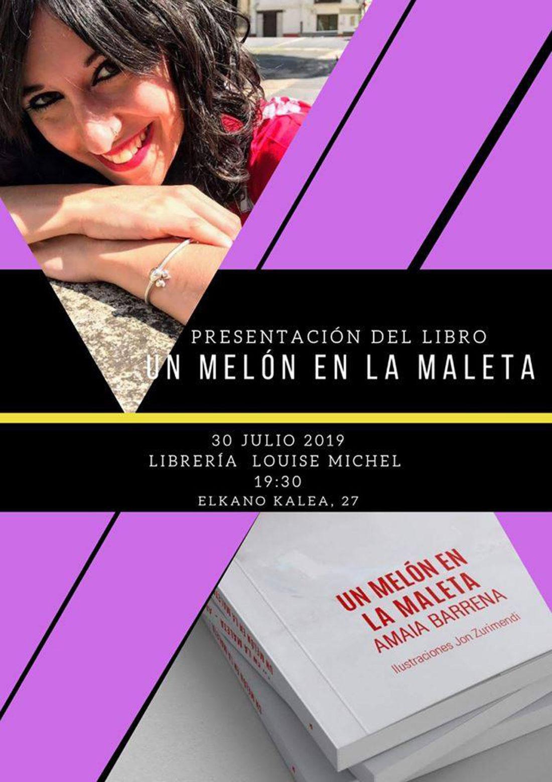 """Presentación de """"Un melón en la maleta"""" en Louise Michel"""