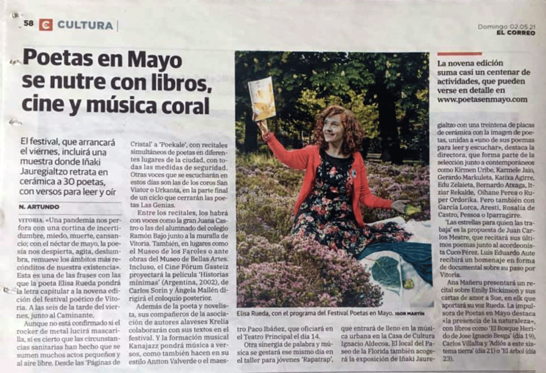 Poetas en Mayo se nutre con libros, cine y música coral